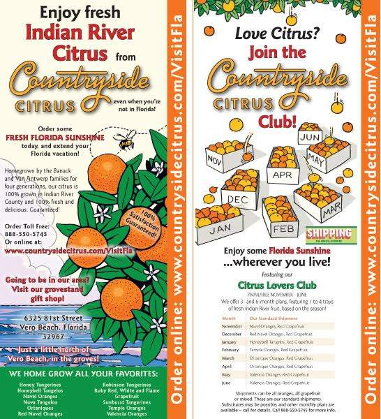 Countryside Citrus Rack Card